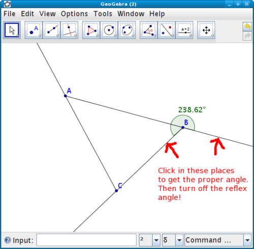 Exterior Angles Lab in GeoGebra