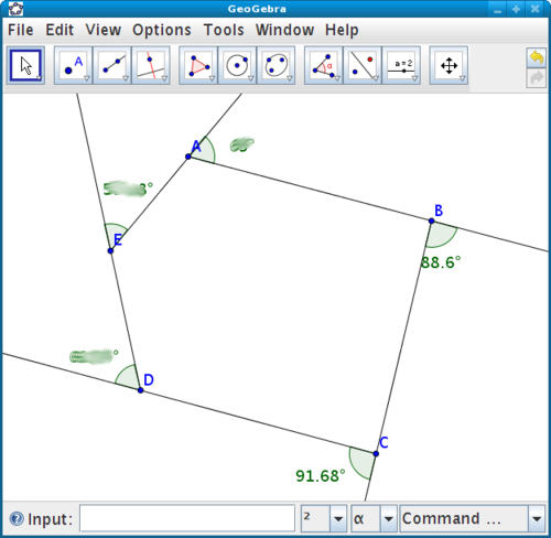 Exterior angles lab in geogebra - Which of the following are exterior angles ...